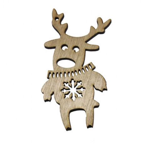 Ornament de Craciun din lemn - model Ren