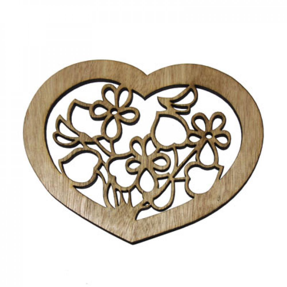 Figurina din lemn - inima