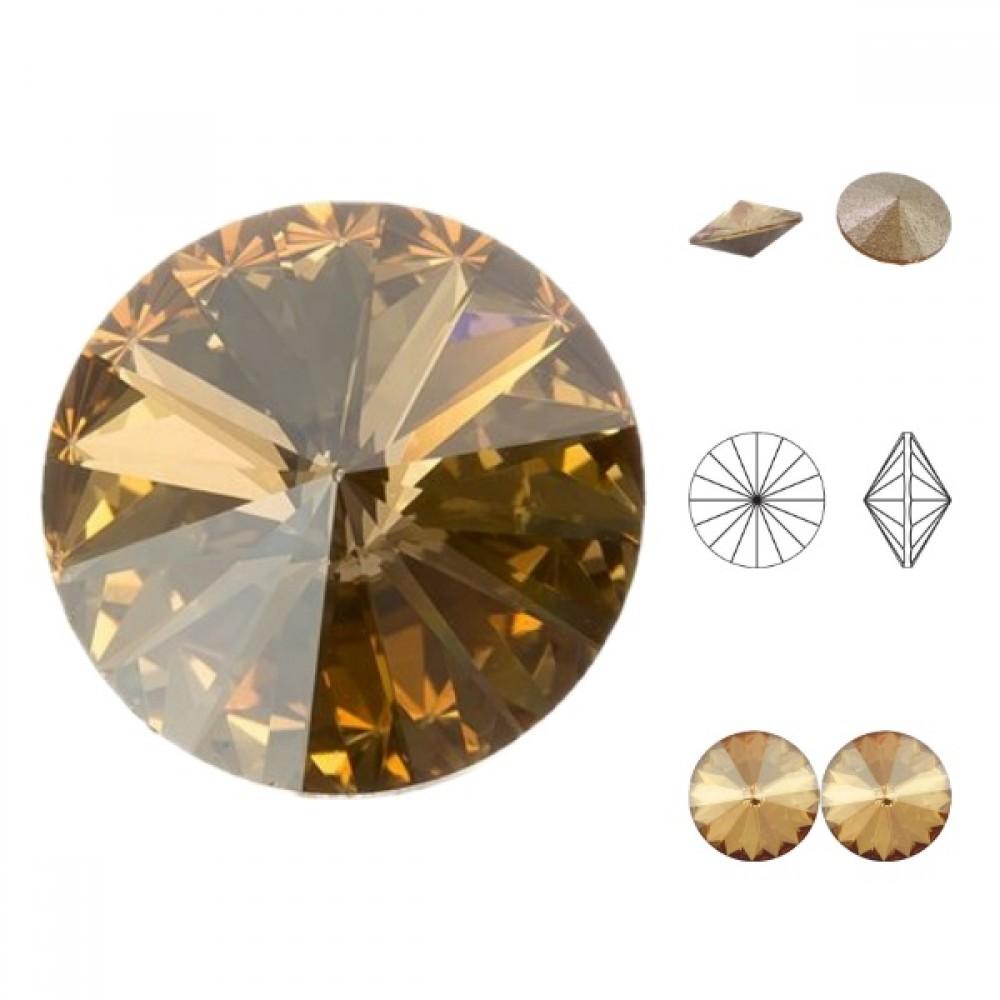 Swarovski Rivoli - Crystal Golden Shadow