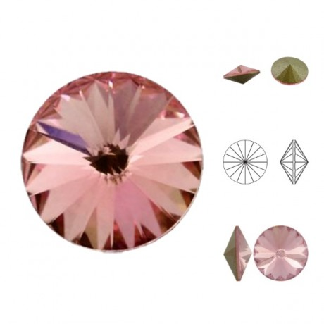 Swarovski Rivoli - Light Rose