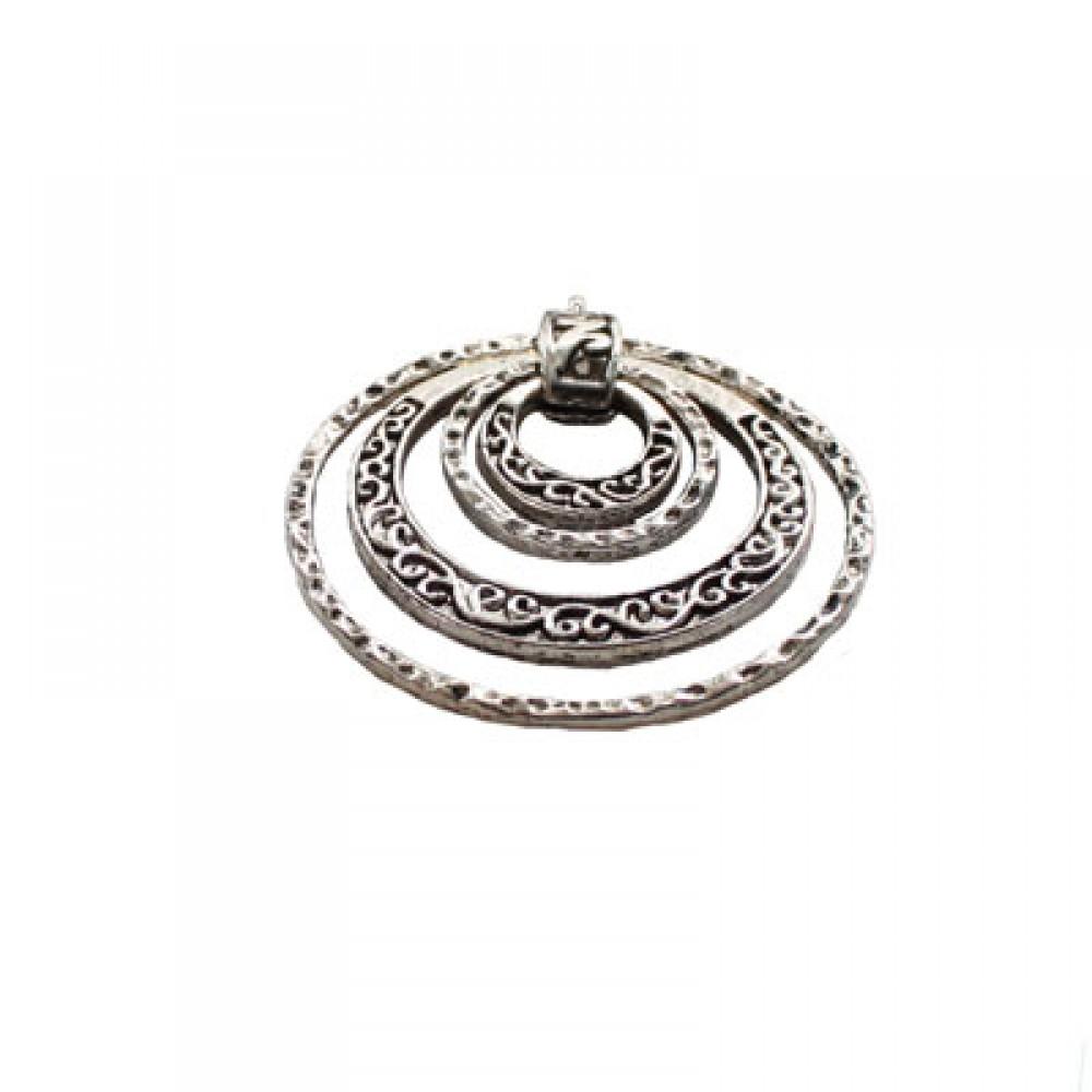 Pandantiv metalic - cercuri