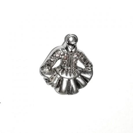 Pandantiv metalic - rochita