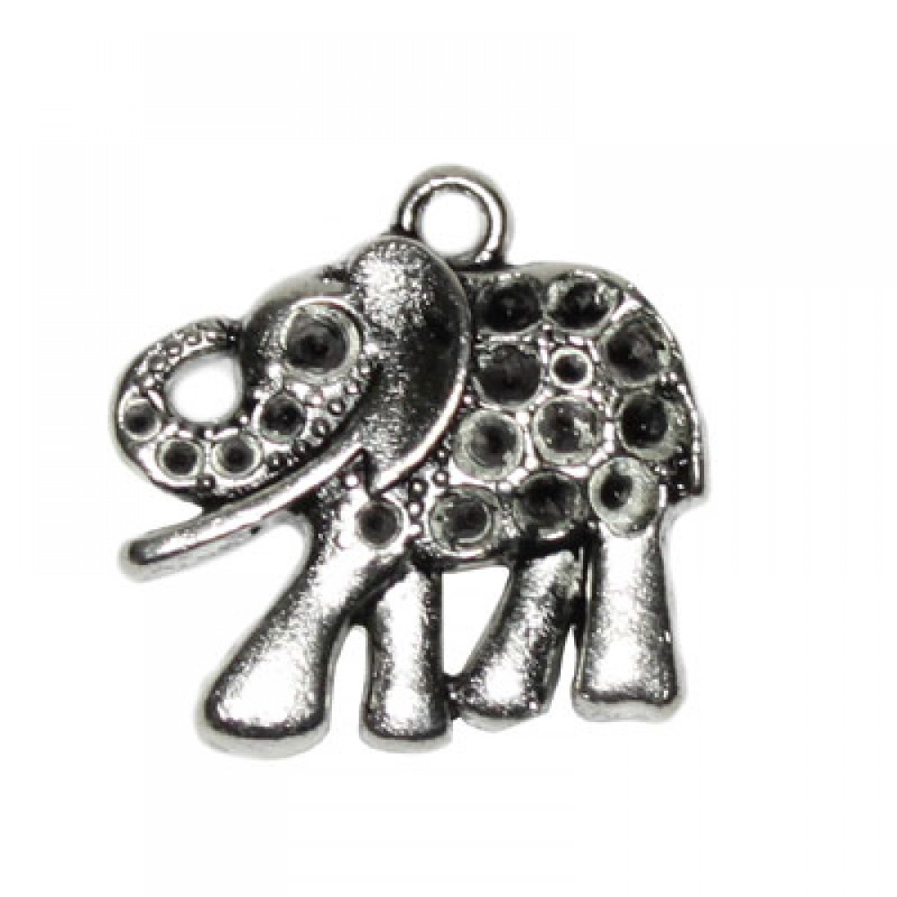 Pandantiv metalic - elefant