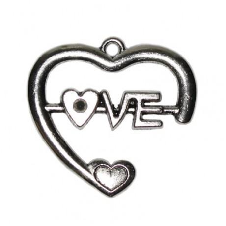 Pandantiv metalic - Love