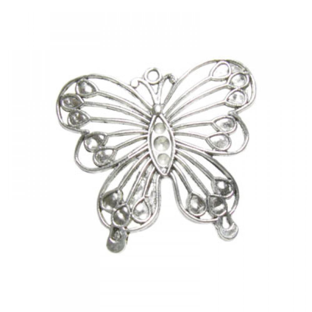 Pandantiv metalic - fluture