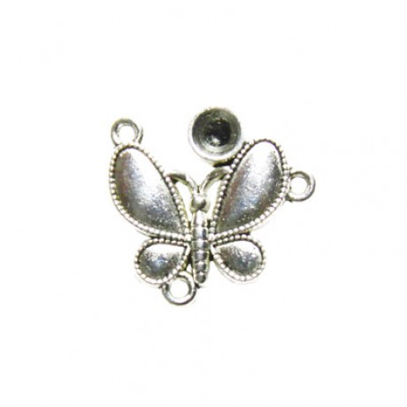 Pandantiv metalic cu 3 orificii - fluture