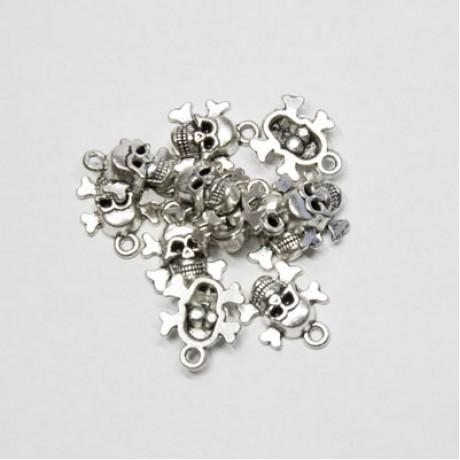 Pandantiv metalic - craniu