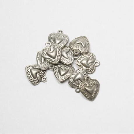 Pandantiv metalic - inimioara