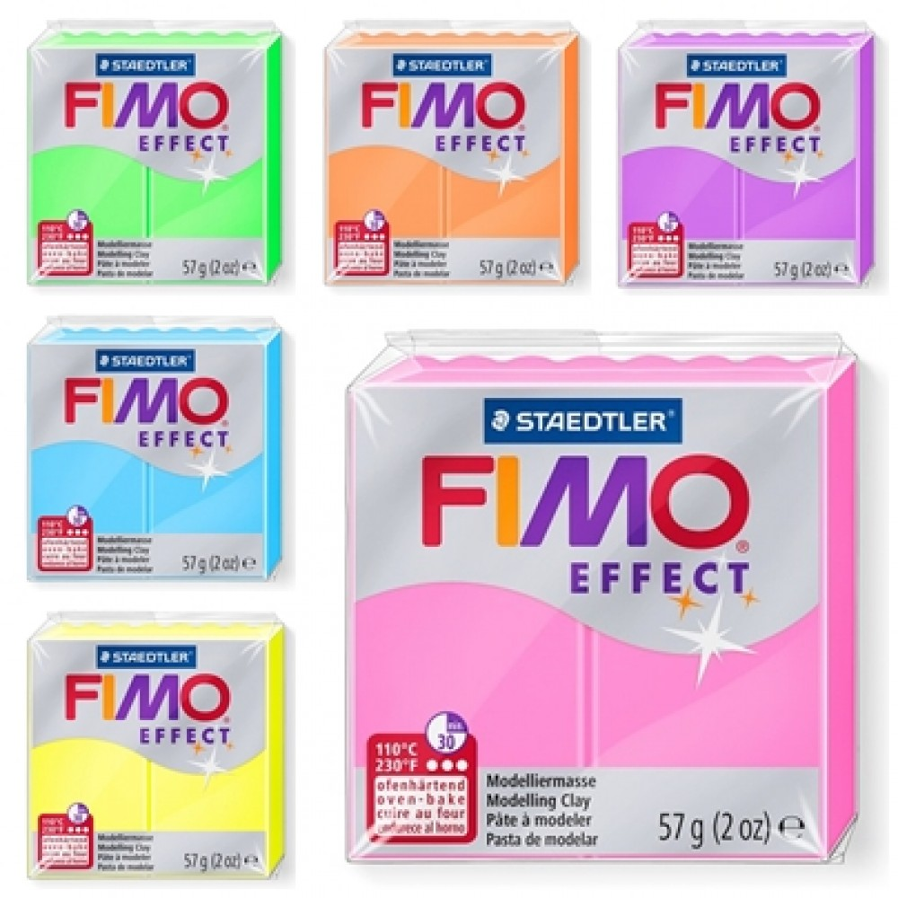 Staedtler Fimo Effect Neon Polymer Modelling Clay