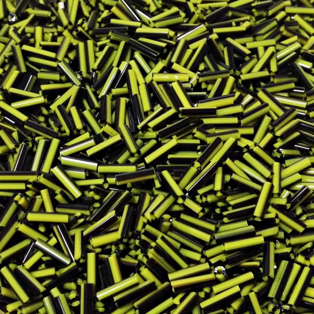 Margele de nisip bicolore 6mm tubulare