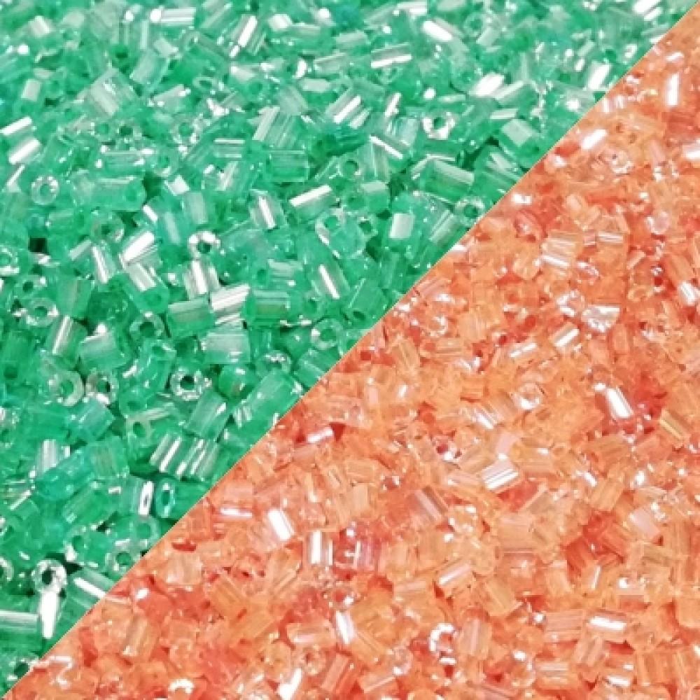 Margele de nisip tubulare perlate 3mm